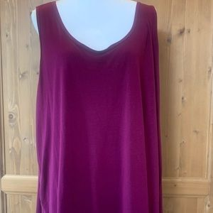 Purple/maroon tank